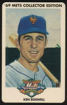 3m 1969 Champion Miracle Mets (25th Anniversary): Ken Boswell Phone Card
