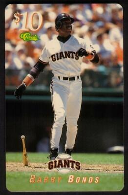 $10. 1995 Major League Baseball (MLB): Barry Bonds SPECIMEN Phone Card