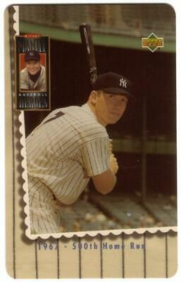 10m Mickey Mantle Baseball At Bat Photo: '1967 - 500th Home Run' Phone Card