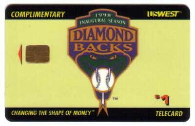 $1. Comp Phoenix Arizona Diamond Backs Baseball 1998 Inaugural Season Phone Card