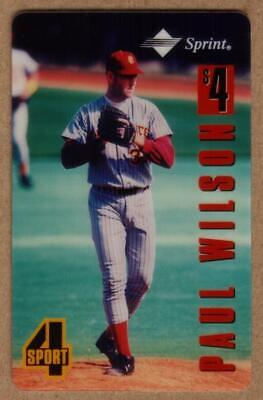 Assets $4. 4-Sport Series: Paul Wilson Baseball TEST Phone Card