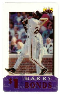 Clear Assets 1996: $1. Barry Bonds (Card #6 of 30) Phone Card