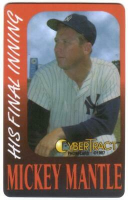 Mickey Mantle In Yankees Baseball Uniform & Cap (Orange Border) Phone Card