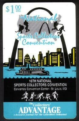 $1. 16th Nat'l Sports Collectors Convention Logo (St. Louis 7/95) Phone Card