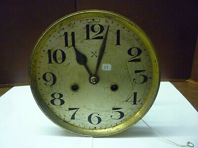 Original Art Deco Striking Wall Clock Spring Driven Movement+Dial (11)