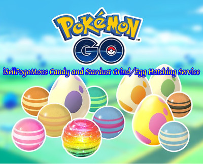Pokemon Go Candy and Stardust Grind/Egg Hatching Per Hourly