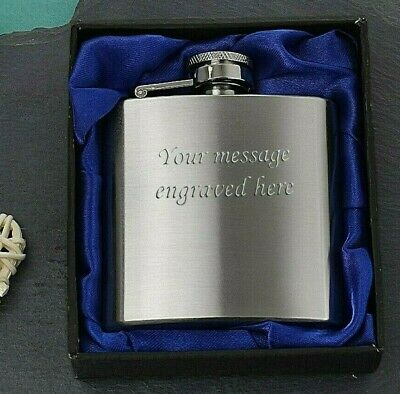 6oz Shiny Hip Flask Men/'s Wedding Best Man Page Boy Groom Dad Son Engraved Free