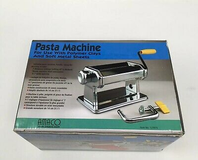 Amaaco Pasta Machine For Polymer Clay and Soft Metal Sheets 12381S (Open Box)