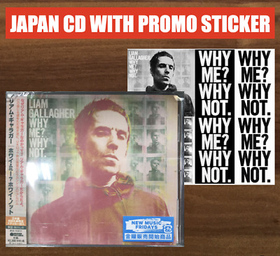 Japan Promo Badge +Japan Cd + Sticker! Liam Gallagher Why Me? Why Not. 2019