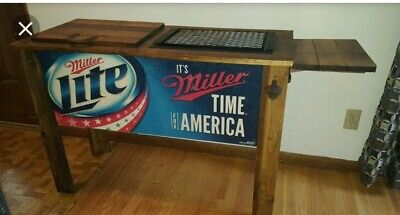 MILLER LITE BEER BARREL CHARCOAL GRILL  OUTDOOR PATIO TAILGATE NEW