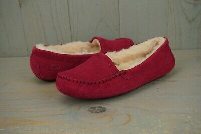 defc640bd64 UGG AUSTRALIA SCALLOPED Moccasin Red/Wine Women's Slippers Size 9 ...