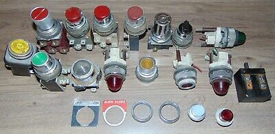 Vintage Lot of Push Button Switches Start  Stop & Lights Steampunk