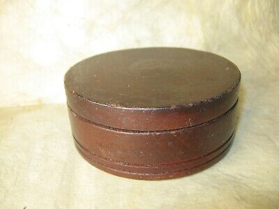 Early American Boston Area Lathe Turned Box with Original Paint and Nice Patina