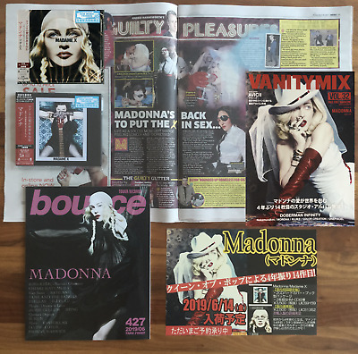 JAPAN DLX 2x SHM-CD+NORMAL CD+BANNER+BOUNCE+VANITY MIX+PAPER! MADONNA MADAME X