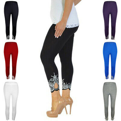 Casual Women Pants Leggings Fit Bodycon fit casual bodycon High Waist Cropped