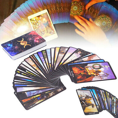 78Pcs Tarot Cards Rider Tarot Deck Game Card Full Version English Divination