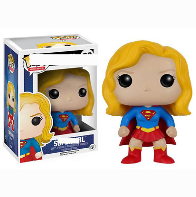 Funkos Pops Justice Alliance Supergirl Collectible Model Kids Toys Action Figure