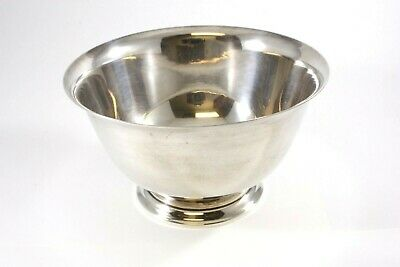"""TIFFANY & CO. MAKERS VINTAGE STERL. SILVER FOOTED BOWL #23614 L 4 1/4"""" x 2 1/2"""""""