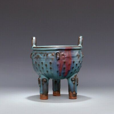 A Fine Collection of Chinese 11thC Song Jun Ware Porcelain Tripodia Ding