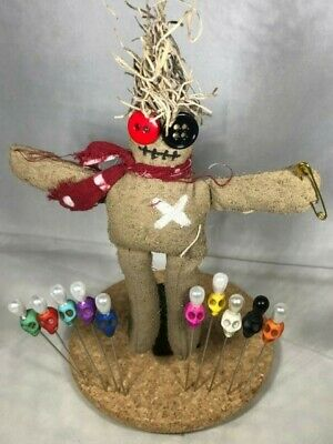 Real, Powerful Voodoo doll + Real Voodoo pins. Authentic Voodoo item, not a toy!