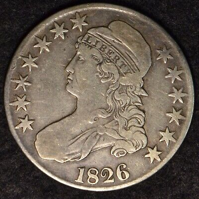 1826 50C Capped Bust Half Dollar Vf Condition Silver Coin