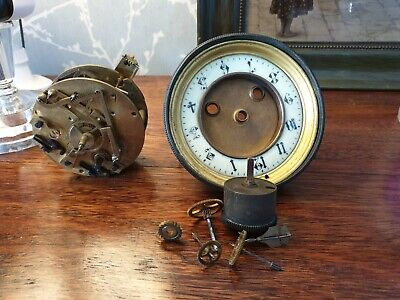 Antique, French Clock Movement, Spares or Repair, ref A15