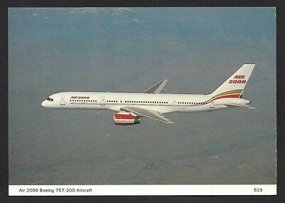 (111cents) Air 2000 Boeing 757 - 200 Aircraft Color Postcard