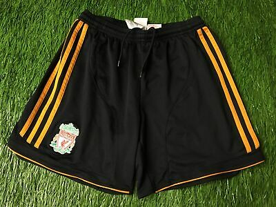 Adidas Originals Boys Kids Junior Black Liverpool 2006/2008 Football Shorts Lfc