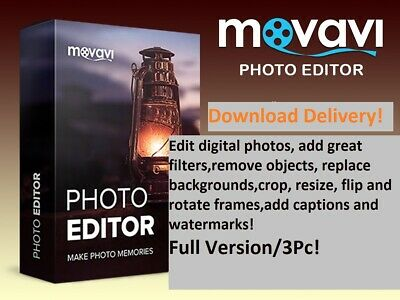 Movavi Photo Editor 5.8/2019/Full Version/3Pc/Download Delivery