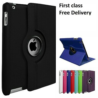 "New Apple iPad 360 Rotating Stand Case Cover For iPad 5th Generation 9.7"" 2017"