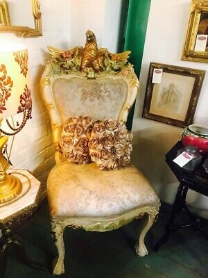 Antique Chair French Rococo Style Gilt Eagle Chair  Vintage - Delivery Available