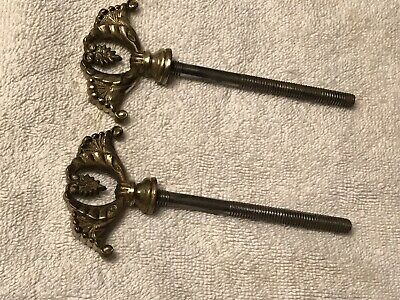 VINTAGE LG SWINGING MIRROR BOLT-SCREWS x 2  SOLID BRASS ANTIQUE CHEVELLE/DRESSER