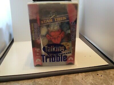 Star Trek Talking Tribble W/2 Vhs Tapes N I P