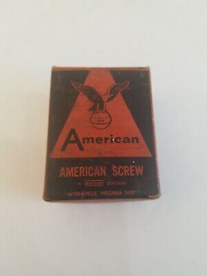 Vintage American Screw Box And Screws 1/2 Slotted Hex Wytheville Vintage Excell.
