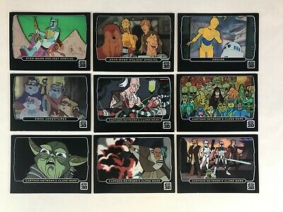 STAR WARS 30th ANNIVERSARY (Topps 2007) Complete ANIMATION CEL Chase Card Set 9