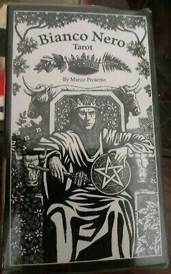 BIANCO NERO TAROT Cards Deck Black And White Marco Games Systems And