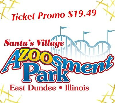 SANTA'S VILLAGE Azoosment Park Tickets A Promo Discount Tool Savings $19.49 DEAL