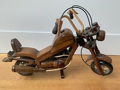 Harley Davidson Chopper look All Wood Model Timber Carved ideal for Man Cave