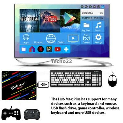 H96 Android 9.0 Smart TV Box 64G Quad Core 4K HD 5.8GHz WiFi Media Player