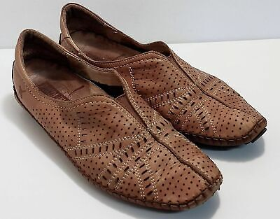 b8c075c0 Light brown leather Pikolinos flats, size 39 loafers, pull on or slip on  casual
