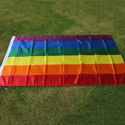 Pride Gay Rainbow LGBT Flag 5ft x 3ft Lesbian Bisexual Festival Carnival Parade
