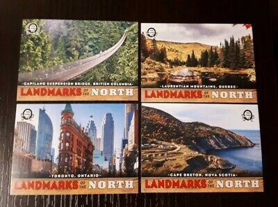 2018-19 Opc Canadian Tire Landmarks Of The North  Sp Rare - 4 Card Insert Lot