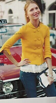 J.CREW Piazza sweater jacket Sunflower yellow S 100% cotton knit Double breasted