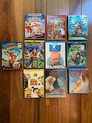 DVD slipcover only NO MOVIES INCLUDED (LOT Of 10) Baby boss, Cars 3, Zootopia