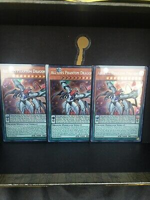Yugioh 3x BLHR-EN043 All-Eyes Phantom Dragon 1st Edition Mint