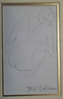 Pencil Drawing of a Nude , by Listed Artist , Bill Coleman , 1922 - 1993