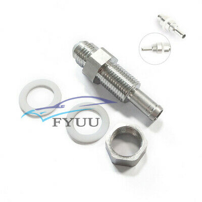 3 AN Swivel Female to Male AN3 Hose Union Fuel Bulkhead Fitting Adapter Black Aluminum 90 Degree Forged