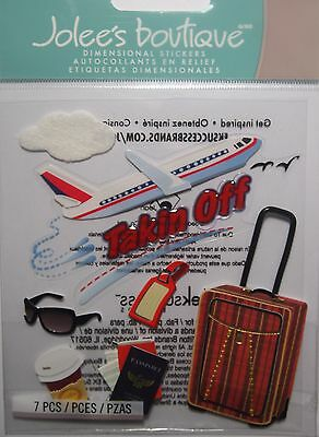 JOLEE'S BOUTIQUE TAKING OFF Plane Travel Scrapbook Craft Stickers Embellishment