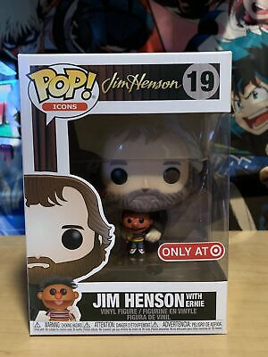 Funko Pop Jim Henson with Ernie #19 Icons Target Exclusive w/ Protector