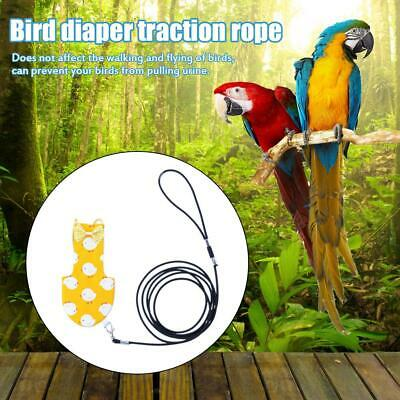 Pet Diaper Bird Clothes Parrot Harness Leash Flying Small Bird Training Leash